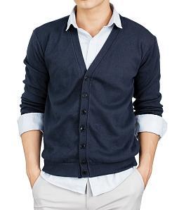 Áo cardigan nam phong cách hàn quốc - Xanh đen
