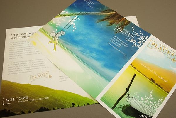 Mẫu catalogue du lịch lãng mạn với thiết kế hiện đại